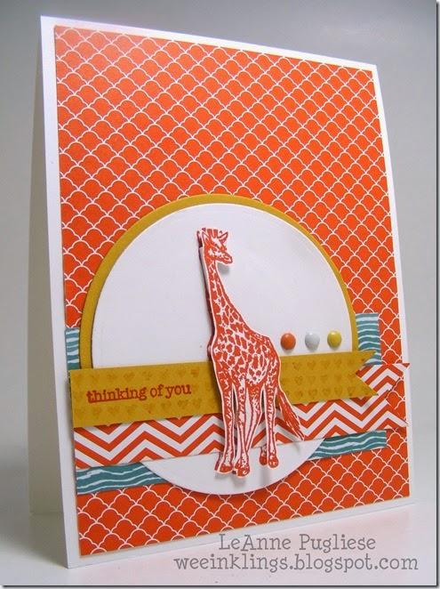LeAnne Pugliese WeeInklings Giraffe Stampin Card