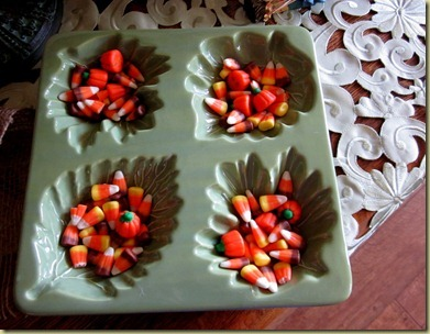 candy corn green dish