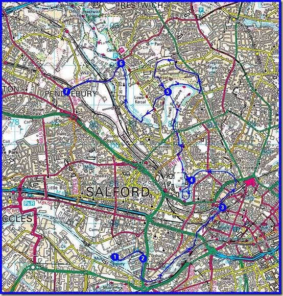 Salford Trail Part 1 - a route