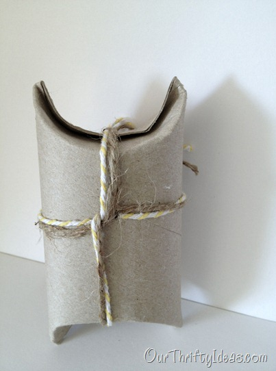 Our Thrifty Ideas: Gift Wrapping from a toilet paper roll