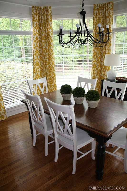 breakfast nook curtains