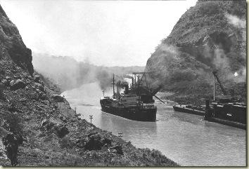 SS Ancon first transit Panama Canal