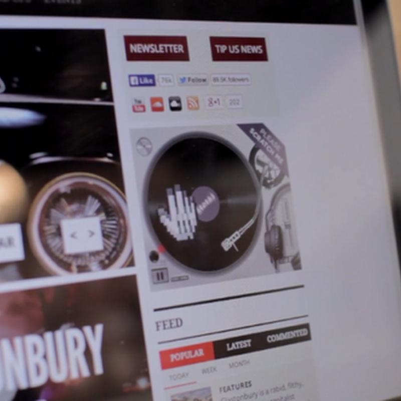 Un banner publicitario que te convierte en DJ