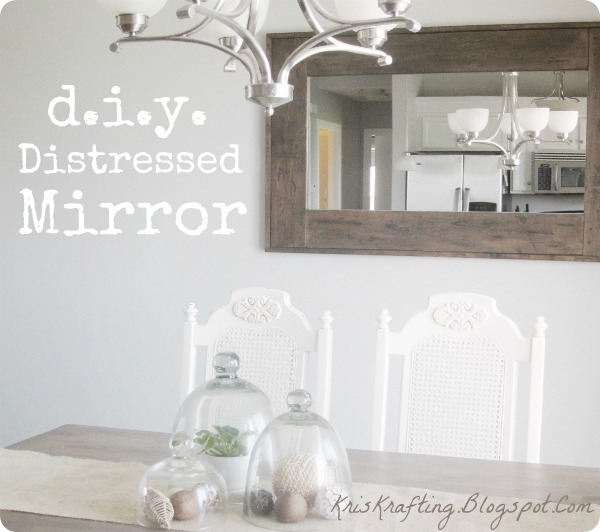 diy distressed mirror