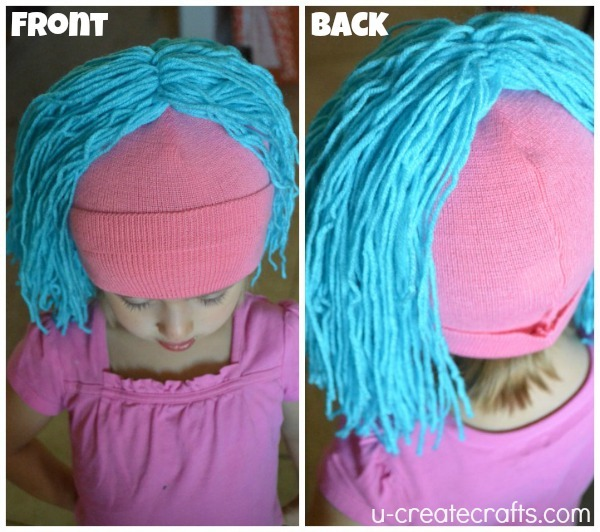 DIY Yarn Wig Tutorial 7
