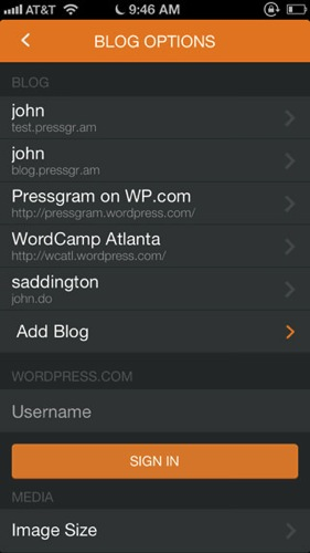 Pressgram multipost wordpress ios1