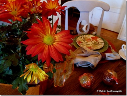 Fall Tablescape @ A Walk in the Countryside