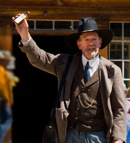 Bannack Days 2008 snake oil