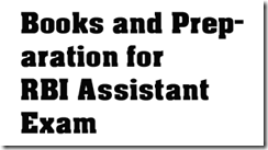 Best books for RBI Assistant exam