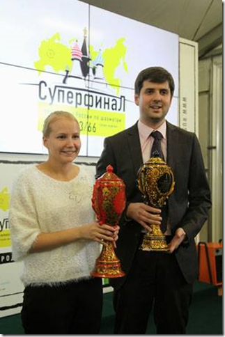 Gunina and Svidler - Russian Superfinal 2013