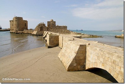 Sidon, Sea Castle and causeway, adr090508658