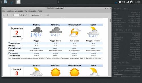 Le previsioni meteo in PDF