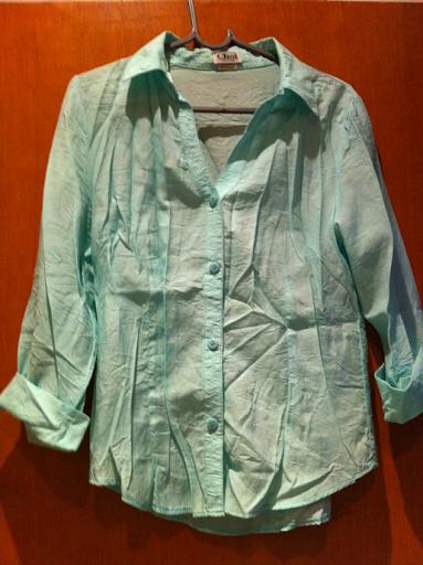 Camisa verde agua