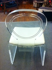 Acrylic Hollywood Regency style chair