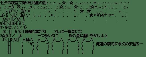 七夕の夜空に輝く死兆星の図
