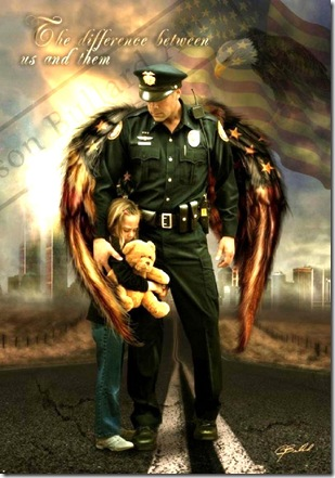 Winged Angel Police Man