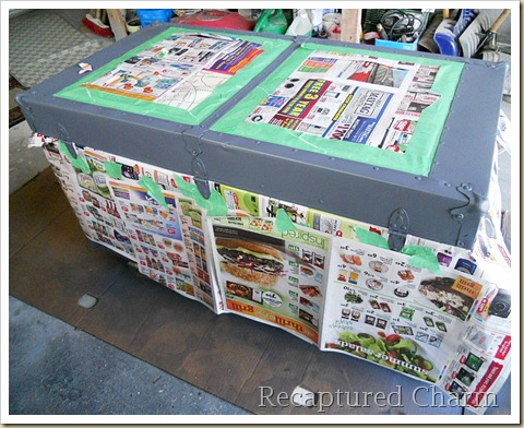 Metal Trunk Makeover 032a