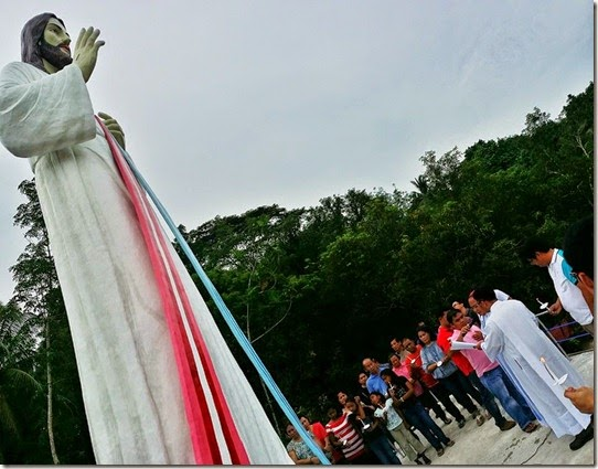 blessing of the statue last april 19, 2014