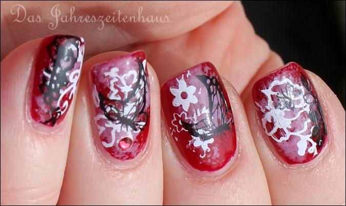 Floral Grunge Nails 8