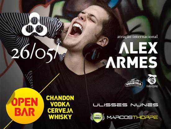 Alex Armes na Anzu Club em Itu