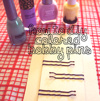 DIY Your Own Colored Bobby Pins | Lavender & Twill
