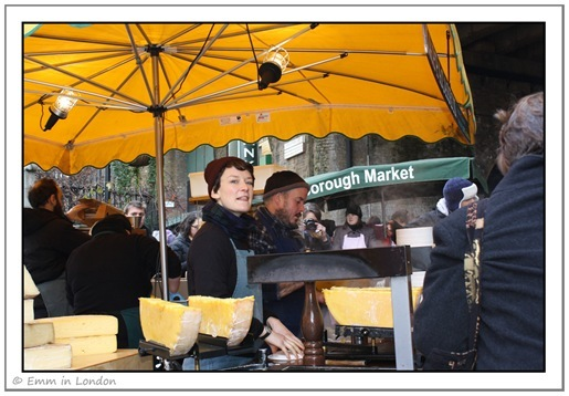 Borough Market - raclette stall