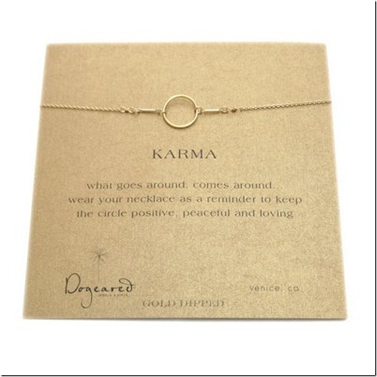 Dog Eared Karma Necklace