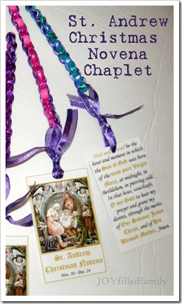 Christmas Novena Chaplet with prayer card