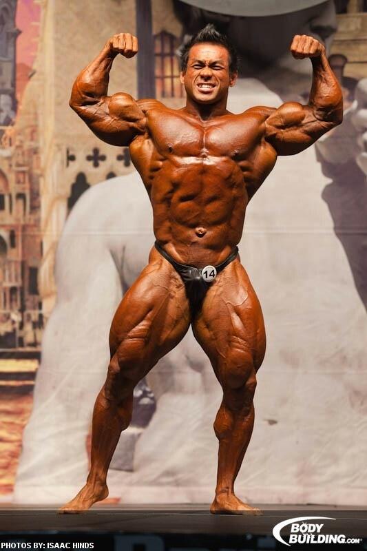 Hidetada Yamagishi Front Double Biceps pose