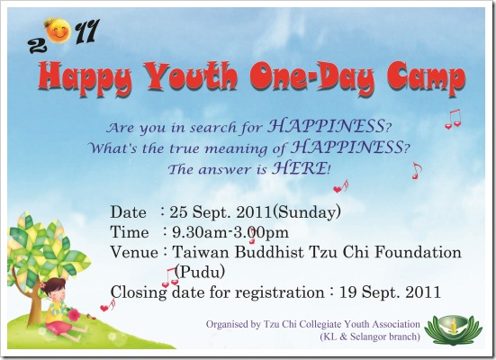 Happy Youth One-Day Camp