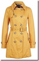 Spoom Yellow Trench Coat