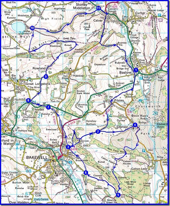The bike ride route - 35km with 800-1000 metres ascent