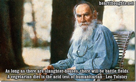Leo Tolstoy on Vegetarianism