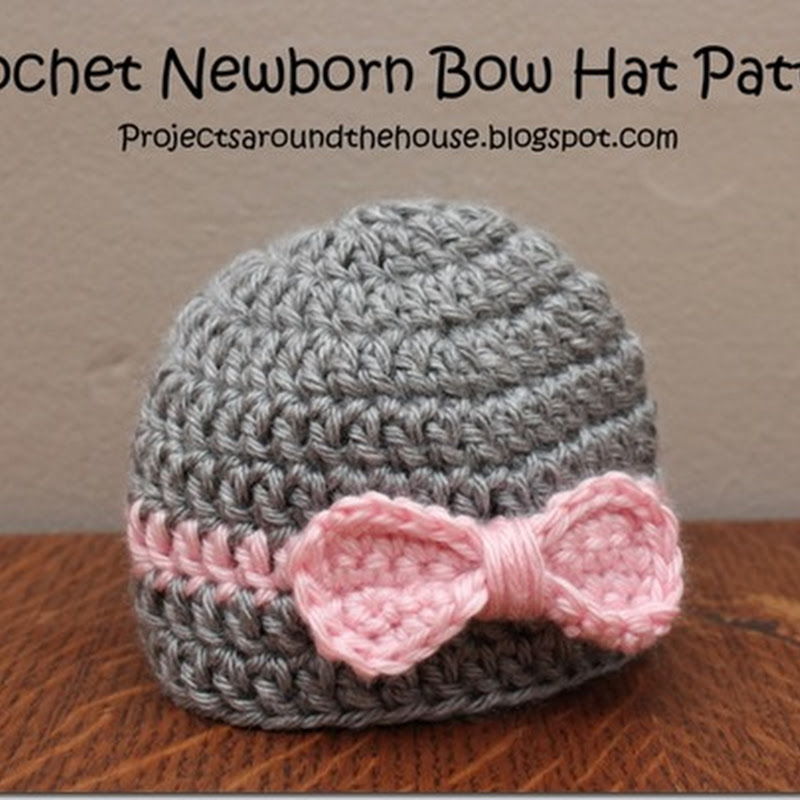 Newborn Hat With Ears Crochet Pattern : Projects Around the House: Crochet Ribbed Beanie Pattern