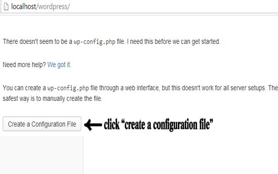 create configuaration file