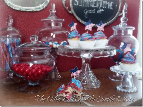 Patriotic Cupcakes & Apothecary Jars