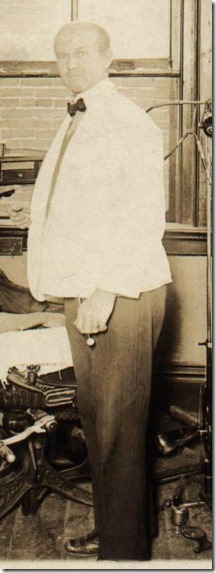 Watson (Fred) Webster at Dental Office in Brinkley Arkansas January to April 1922