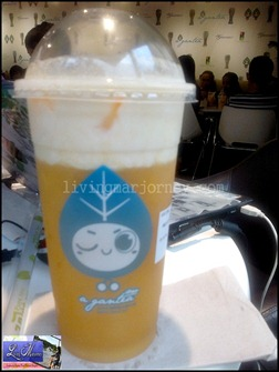 A-gantea: Milk Lid Mango Green Tea