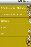 Screenshot of doa-doa islam