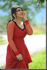 Hansika in red dress