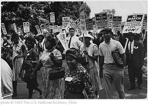 'Photograph of the Civil Rights March on Washington, 08/28/1963' photo (c) 1963, The U.S. National Archives - license: http://www.flickr.com/commons/usage/