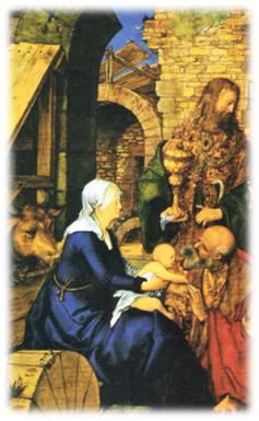 Adoración de los Reyes Magos,  Alberto Durero, 1504