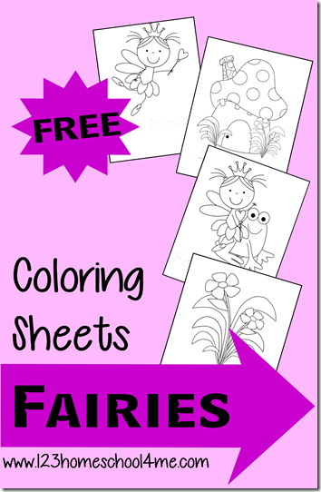 free fairy coloring sheets for kids
