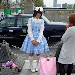 guy dressed up as a Japanese lolita girl in Harajuku, Tokyo, Japan