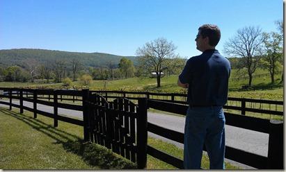 Randy overlooking the vineyard