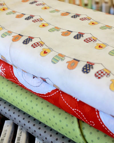 Flaky Pals snowman fabric 4
