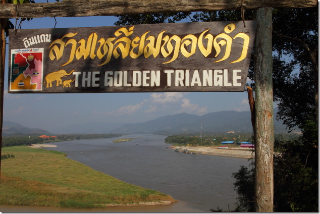 The famous Golden Triangle - once the heart of opium production