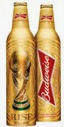 garrafa dourada de ouro budweiser