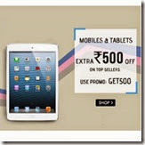 Snapdeal : Buy Mobiles & Tablets at Extra Rs. 500 off + Rs. 50 Discount