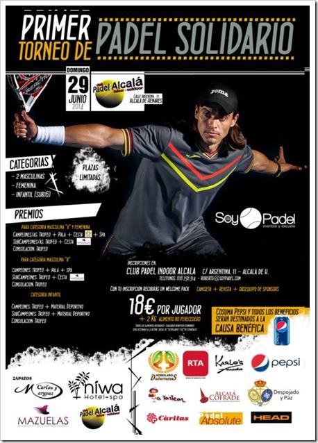 1er Torneo de Pádel Solidario SoyPadel el 29 junio de 2014 en el Club Pádel Alcalá Indoor.